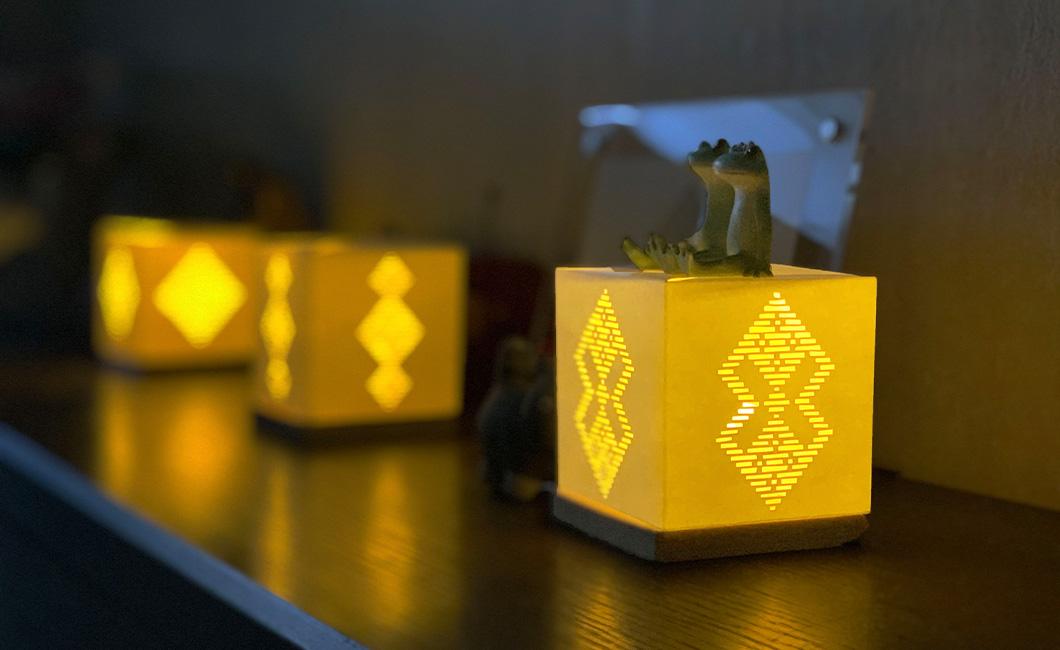 「光るこぎん」ランプシェード